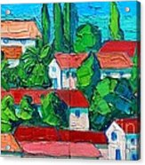 Mediterranean Roofs 3 4 Acrylic Print