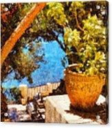 Mediterranean Steps Acrylic Print