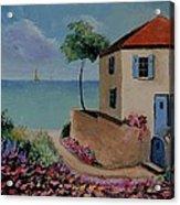 Mediterranean Villa Acrylic Print