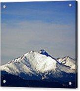 Meeker And Longs Peak Massive In Snow Acrylic Print