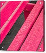 Wimberley Texas Market Red Bench Acrylic Print