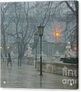 Meeting  In The Rain Acrylic Print