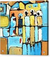 Meeting Acrylic Print by Negoud Dahab