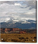 Meeting Of The Mountains And Desert Acrylic Print