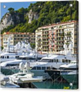 Mega Yachts In Port Of Nice France Acrylic Print