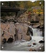 Meigs Falls In Autumn Acrylic Print