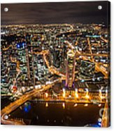 Melbourne At Night Vi Acrylic Print