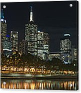 Melbourne Cbd And Yarra Acrylic Print