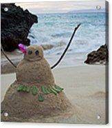 Mele Kalikimaka Merry Christmas From Paako Beach Maui Hawaii Acrylic Print