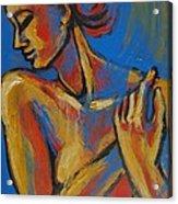 Mellow Yellow- Female Nude Portrait Acrylic Print