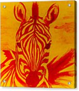 Mellow Yellow Zebra Acrylic Print
