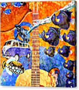 Melodies And Sunset Seas Acrylic Print
