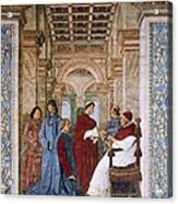 Melozzo Da Forli 1438-1494. Sixtus Iv Acrylic Print