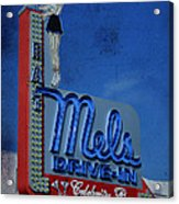 Mels Drive In Celebrity Bar Acrylic Print by Janice Rae Pariza