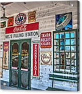 Mel's Filling Station Acrylic Print