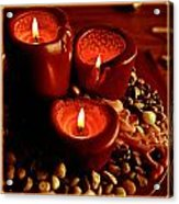 Melted Candles Acrylic Print