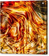 Melting Gold Acrylic Print