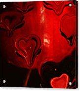 Melting Hearts Acrylic Print