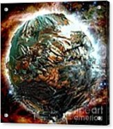 Melting Planet Acrylic Print by Bernard MICHEL