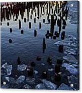 Melting River Acrylic Print