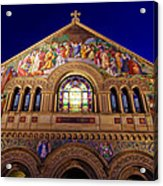 Memorial Church At Night Acrylic Print