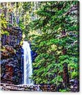 Memorial Falls In Montana Acrylic Print