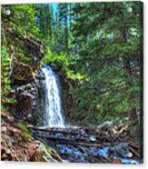 Memorial Falls With Sky Acrylic Print