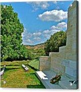 Memorial In Anzak Cemetery Along The Dardenelles In Gallipolii-turkey Acrylic Print