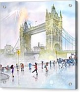 Memories Of London Bridge England Acrylic Print