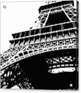 Eiffel Tower Silhouette Acrylic Print