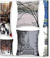 Memories Of Winter - A Collage Acrylic Print