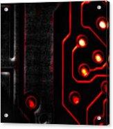 Memory Chip Bwr Acrylic Print by Bob Orsillo