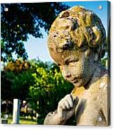 Memphis Elmwood Cemetery - Boy Angel Acrylic Print