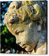 Memphis Elmwood Cemetery - Boy Angel Vertical Acrylic Print