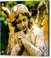 Memphis Elmwood Cemetery - Praying Angel Acrylic Print