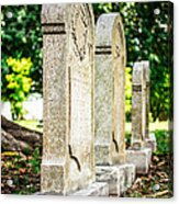 Memphis Elmwood Cemetery Monument - Four In A Row Acrylic Print