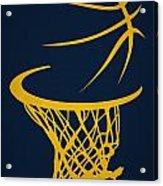 Memphis Grizzlies Hoop Acrylic Print