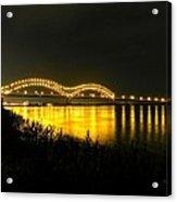 Memphis - Hernando De Soto Bridge 001 Acrylic Print by Lance Vaughn
