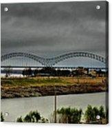 Memphis - Hernando De Soto Bridge 004 Acrylic Print by Lance Vaughn