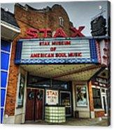Memphis - Stax Records 001 Acrylic Print