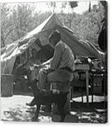 Men At Mining Camp Acrylic Print