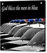 Men In Blue Acrylic Print