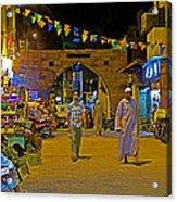 Men In The Spice Market In Aswan-egypt  Acrylic Print