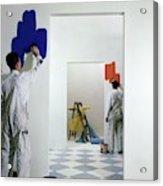 Men Painting Walls Acrylic Print