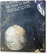 Men Walk On Moon Astronauts Acrylic Print