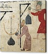 Men Weighing Goods. Fatimid Period Acrylic Print by Everett