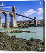 Menai Suspension Bridge Acrylic Print