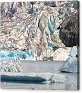 Mendenhall Glacier Detail Juneau Alaska Acrylic Print