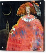 Menina And Cathedral Oil & Acrylic On Canvas Acrylic Print