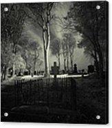 Menlo Cemetery Acrylic Print by Peter Skelton